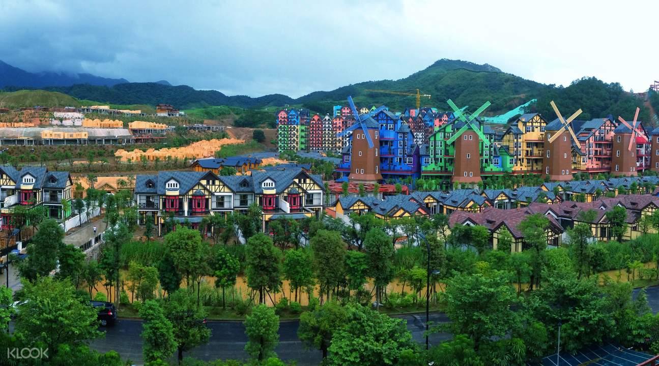 巴伐利亚庄园位於中国河源市源城区,这里森林覆盖率达71.